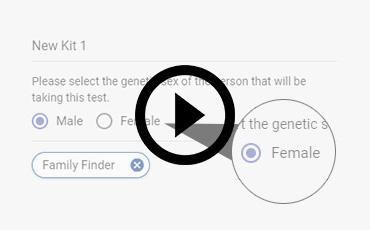 Výběr pohlaví testované osoby